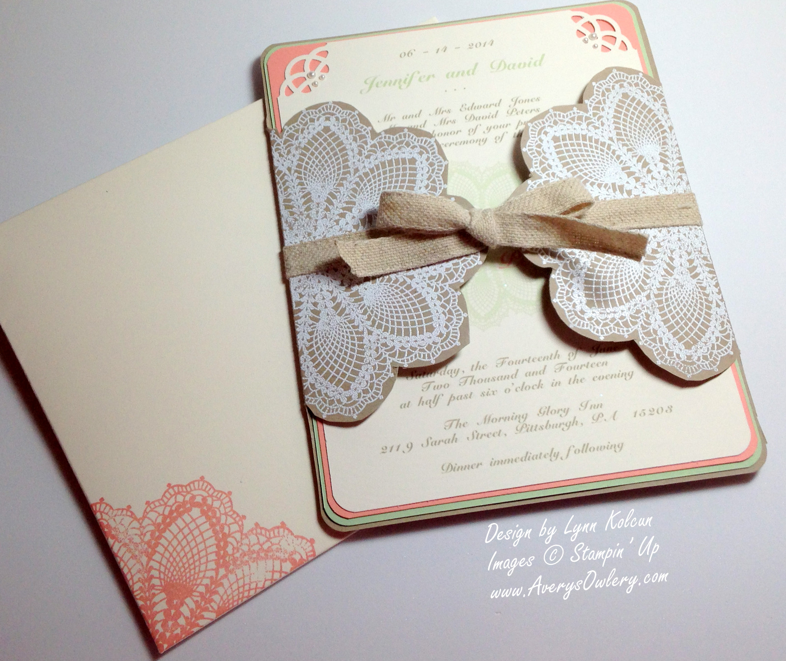 Day 3 of Wedding Week at the Owlery - Vintage Doily - Stamping with ...