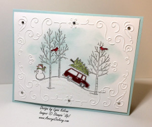 Stampin Up White Christmas Filigree Frame embossing folder