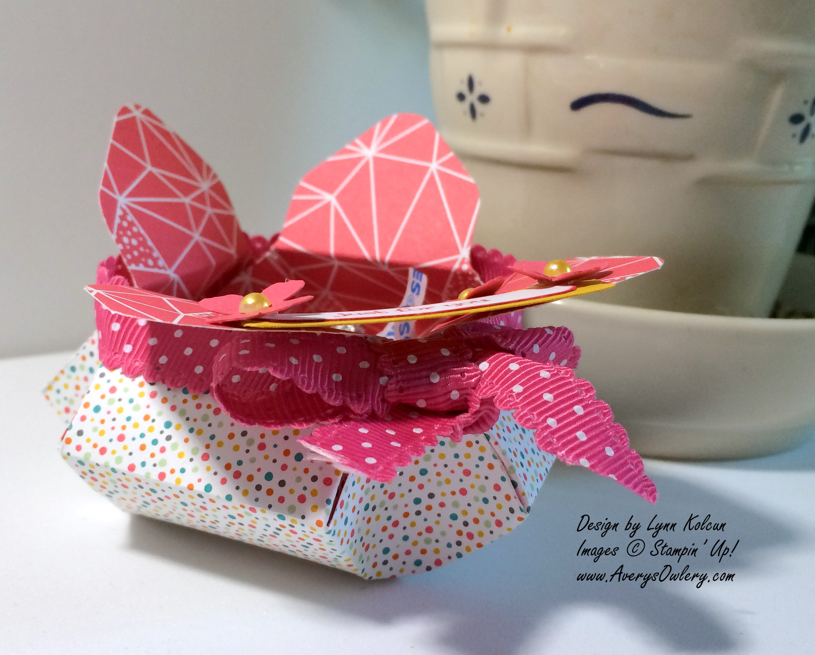 Box # 3 - Tulip Pinch Pot - Stamping with Avery\'s Owlery