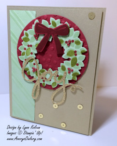 Stampin up Wondrous Wreath Wonderful Wreath framelit Stylish stripes embossing folder decorative dots embossing folder blendabilities