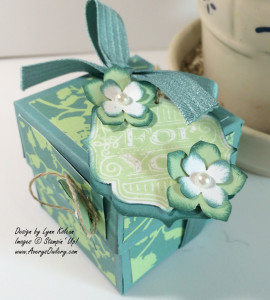 Stampin Up Yankee Votive box holder Tag Talk stamp set
