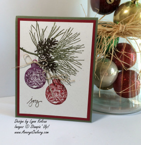 Stampin Up Ornamental Pine
