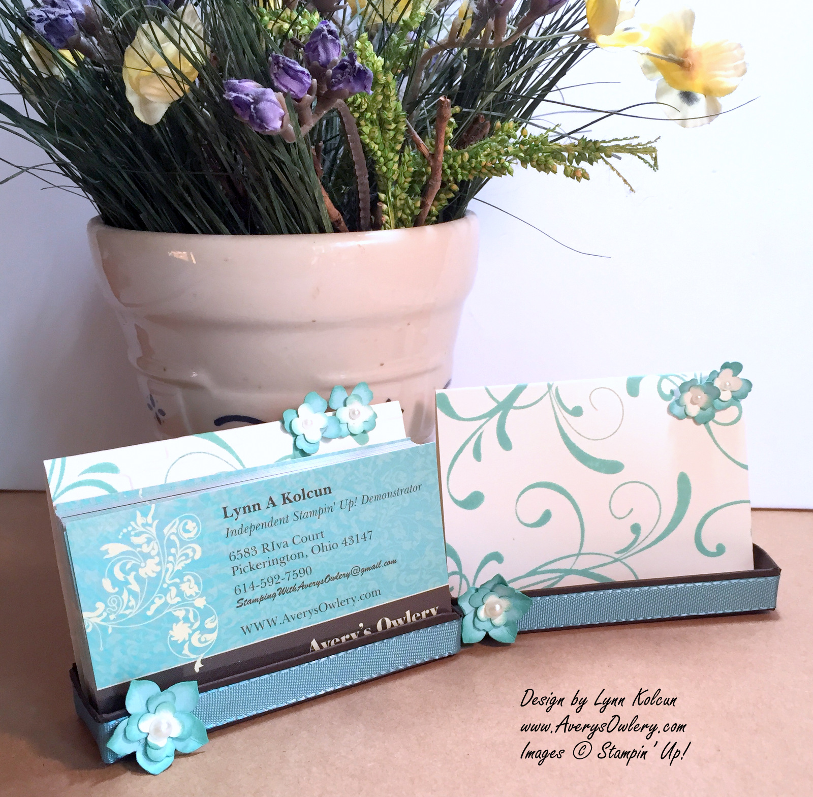 business card easel with everything eleanor stamping with